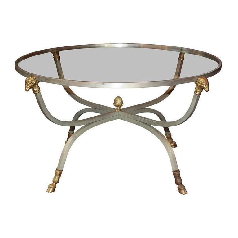 Neoclassical Mid-Century Modern Cocktail Table