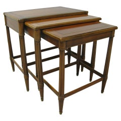 Neoclassical Midcentury Set of Three Nesting Tables Style of Robsjohn Gibbings