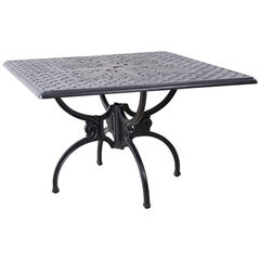 Neoclassical Molla Style Cast Aluminium Garden Dining Table