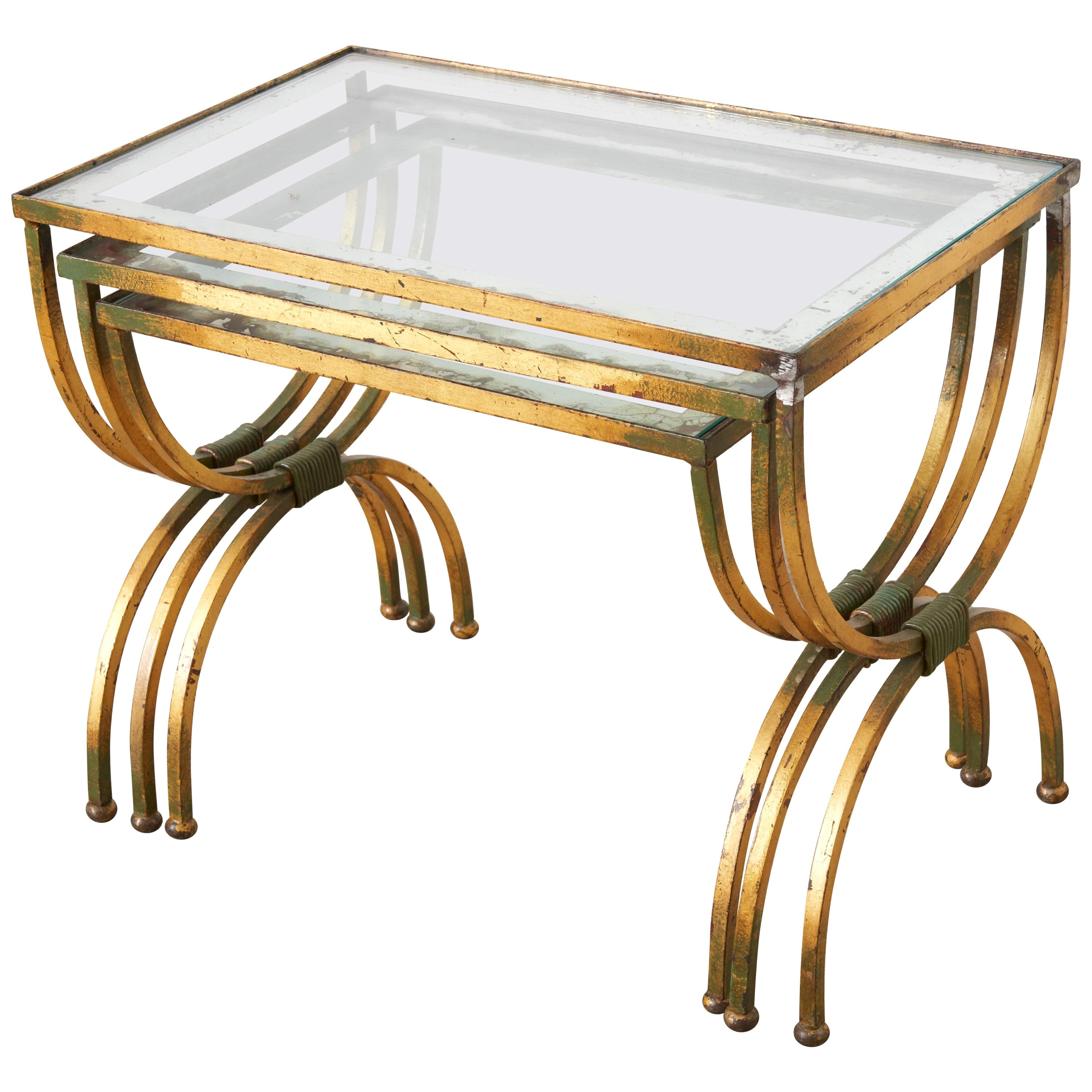 Neoclassical Nesting Tables, France, 1950s