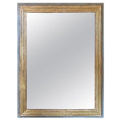 Neoclassical Painted and Gilded Mirror
