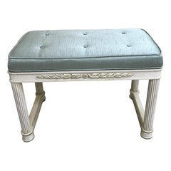 Neoclassical Painted Italian Bench by Palladio