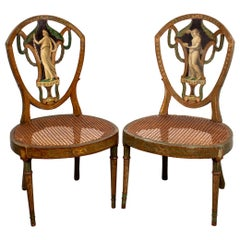 Neoclassical Period Painted Side Chairs