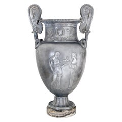 Neoclassical Pewter Vase, 19th Century