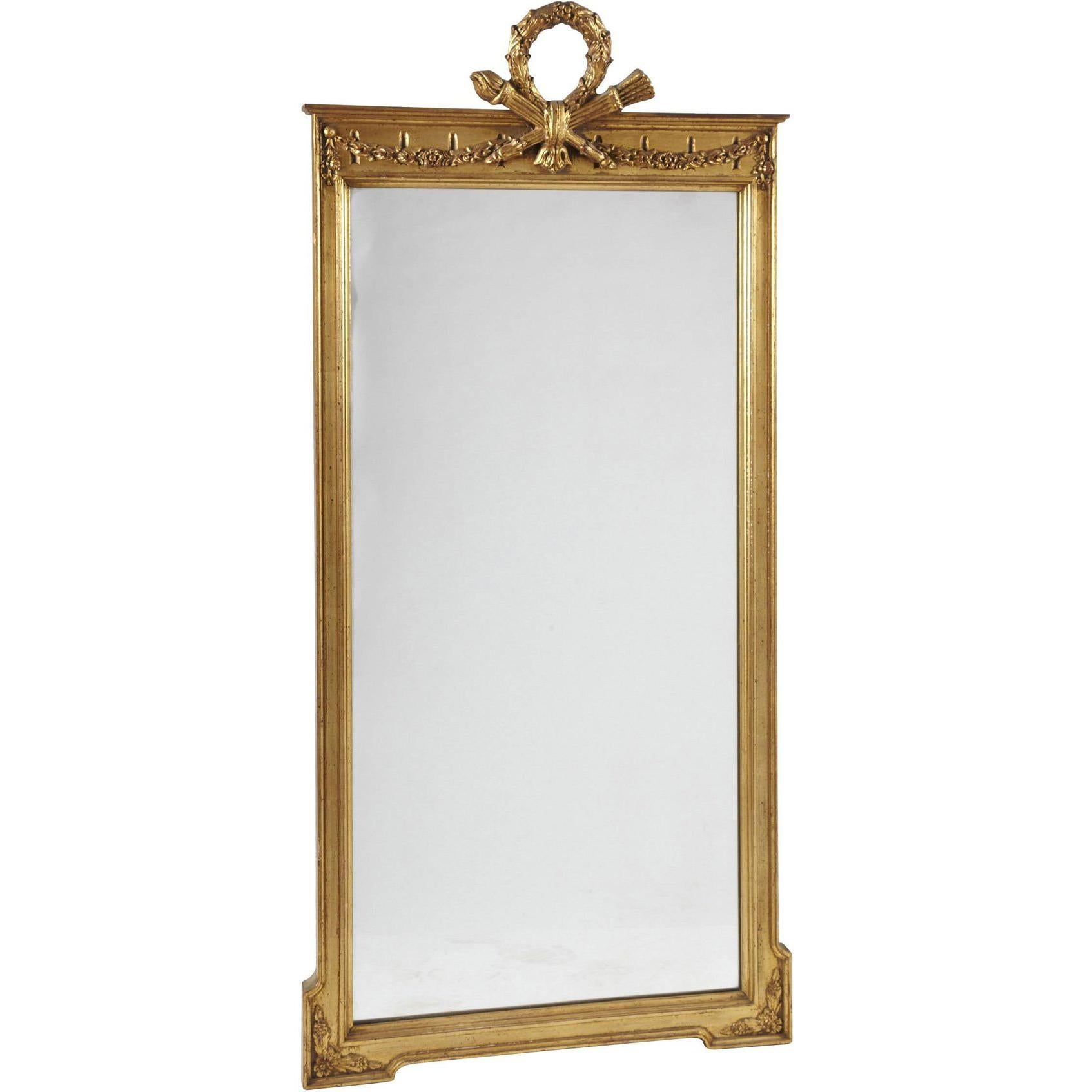 Antique French Neoclassical Pier Mirror