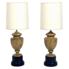 Neoclassical Plaster Urn Lamps
