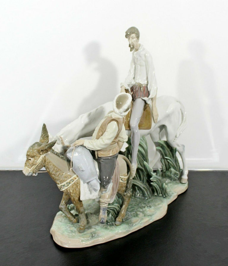 Late 20th Century Neoclassical Porcelain Don Quixote Table Sculpture Signed Lladro Spain, 1970s For Sale