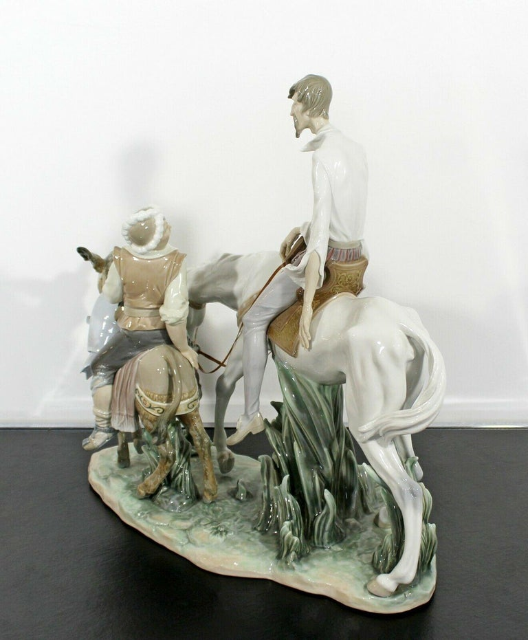Neoclassical Porcelain Don Quixote Table Sculpture Signed Lladro Spain, 1970s For Sale 2