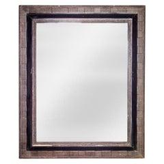 Neoclassical Regency Dark Brown Hand Carved Wooden Mirror, 1970