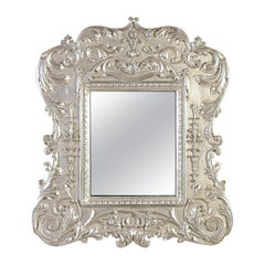 Neoclassical Regency Empire Style Bath Wood Mirror, 1970