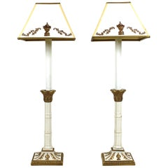 Neoclassical Revival Manner Porcelain Table Lamps