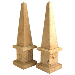 Neoclassical Revival Stone Obelisks
