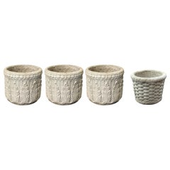 Neoclassical Revival Style Concrete Garden Planters