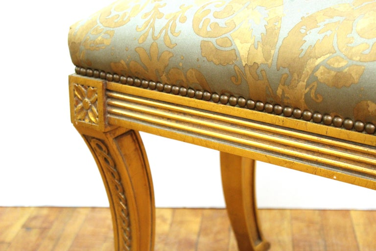 French Neoclassical Revival Style Giltwood Bench For Sale