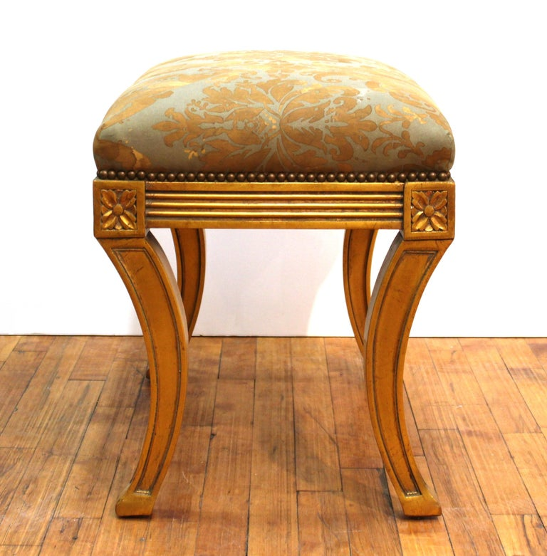 20th Century Neoclassical Revival Style Giltwood Bench For Sale