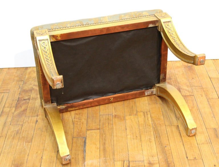 Neoclassical Revival Style Giltwood Bench For Sale 1