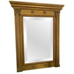 Neoclassical Revival Style Gold Gilt Frame Mirror