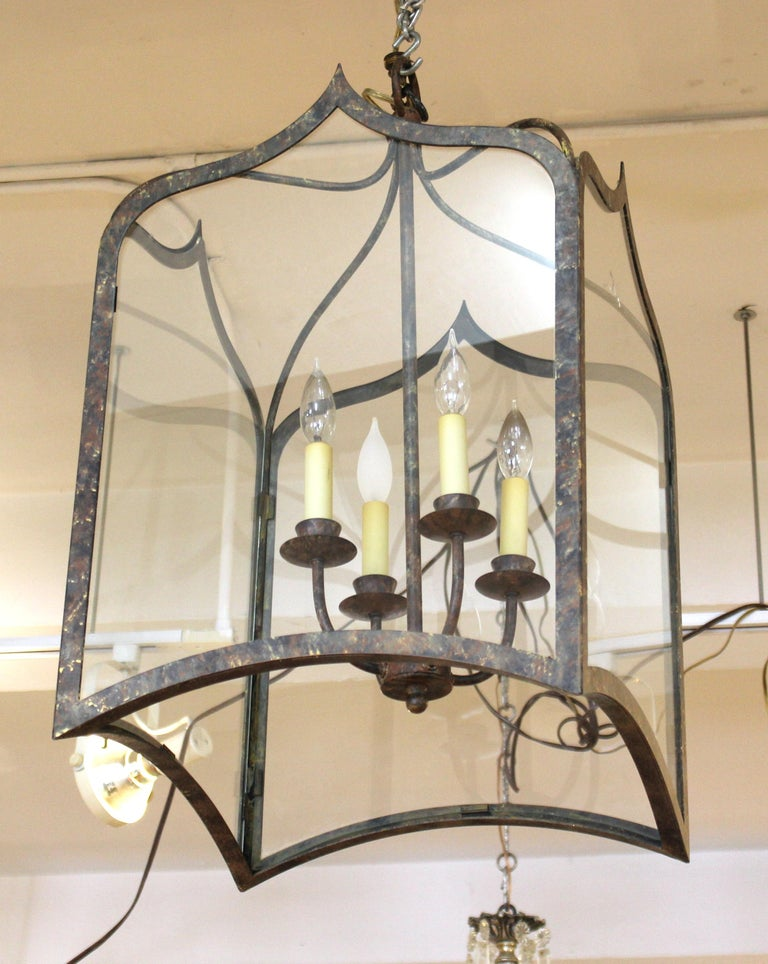 Unknown Neoclassical Revival Style Metal Porch Pendant Lights For Sale