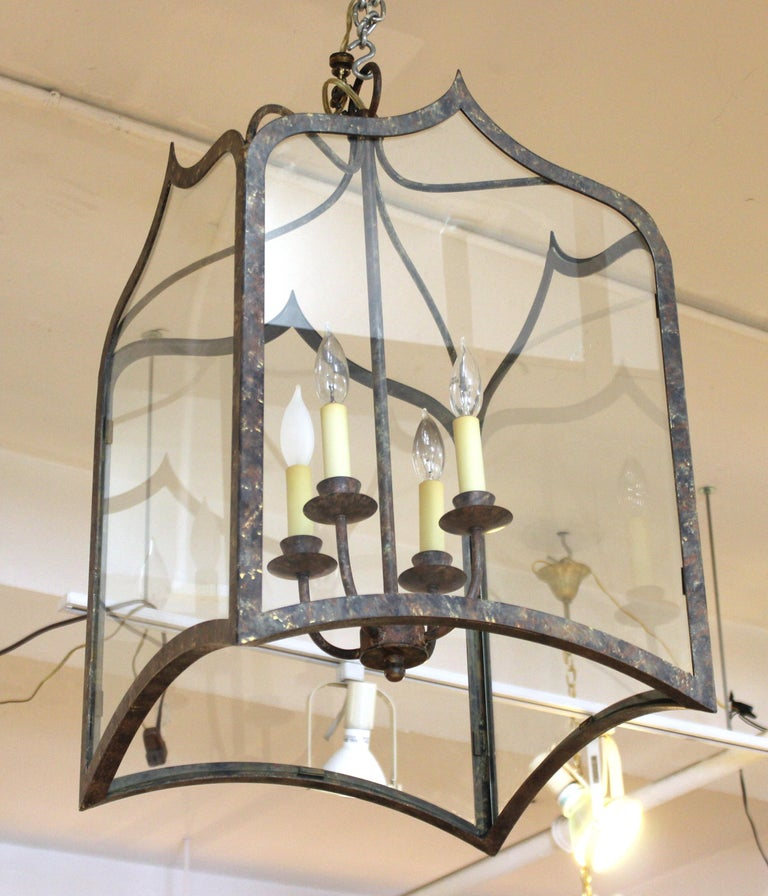 Neoclassical Revival Style Metal Porch Pendant Lights In Good Condition For Sale In New York, NY