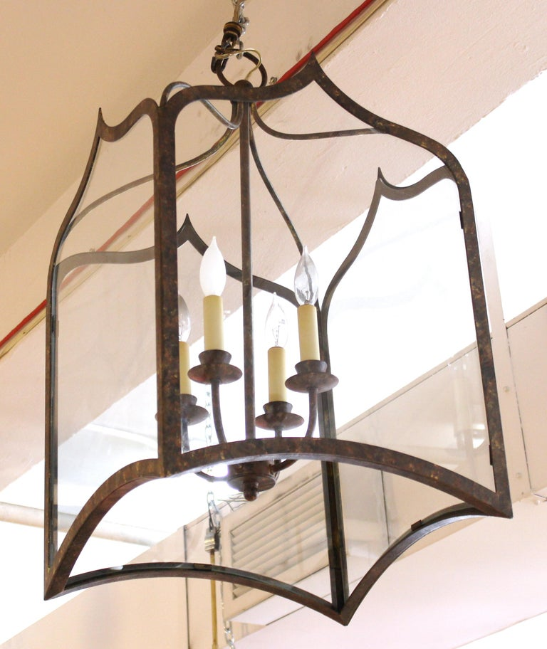 Neoclassical Revival Style Metal Porch Pendant Lights For Sale 3