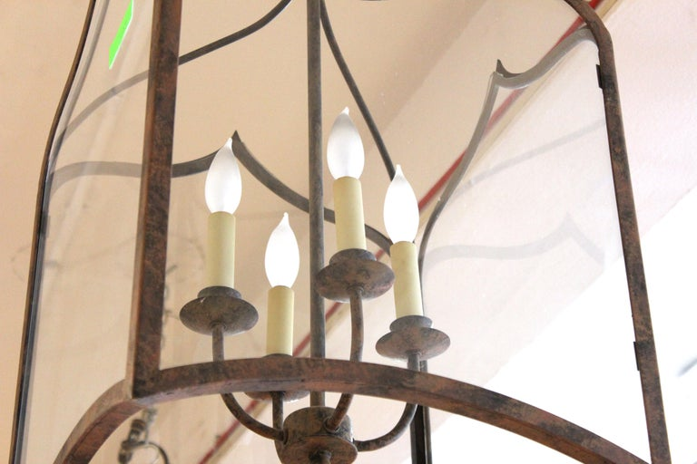 Neoclassical Revival Style Metal Porch Pendant Lights For Sale 4