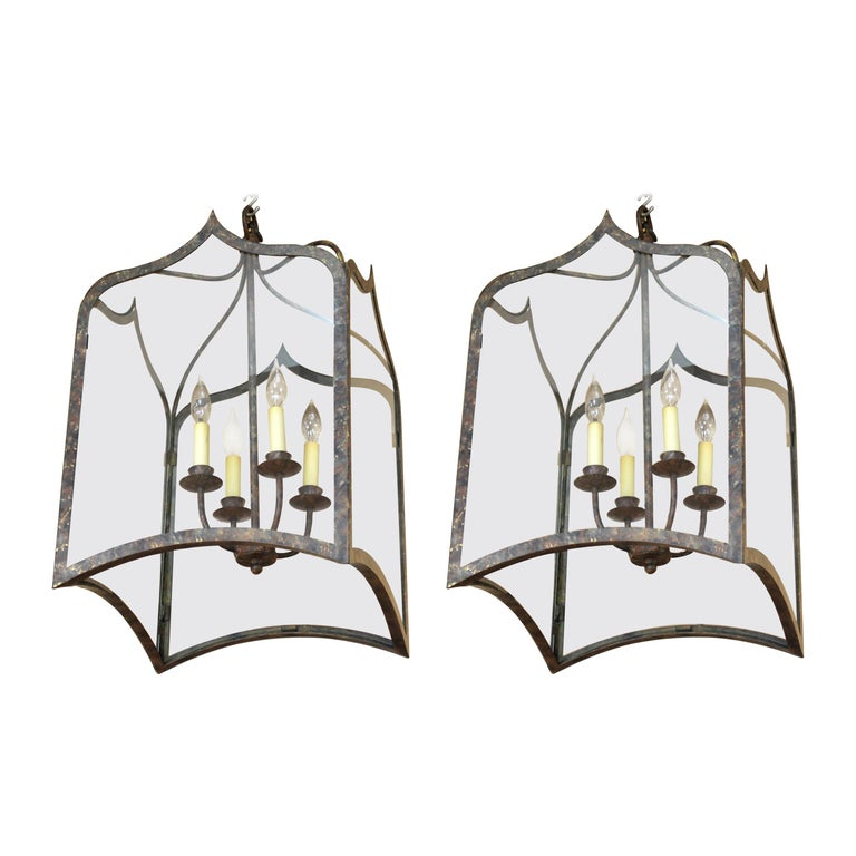 Neoclassical Revival Style Metal Porch Pendant Lights For Sale