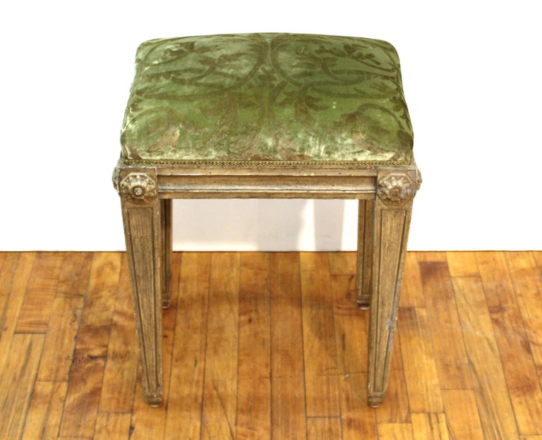 European Neoclassical Revival Style Wood Benches For Sale