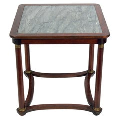 Neoclassical Rosewood and Marble Table