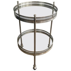 Neoclassical Silver Plated Round Trolley, French, circa 1940