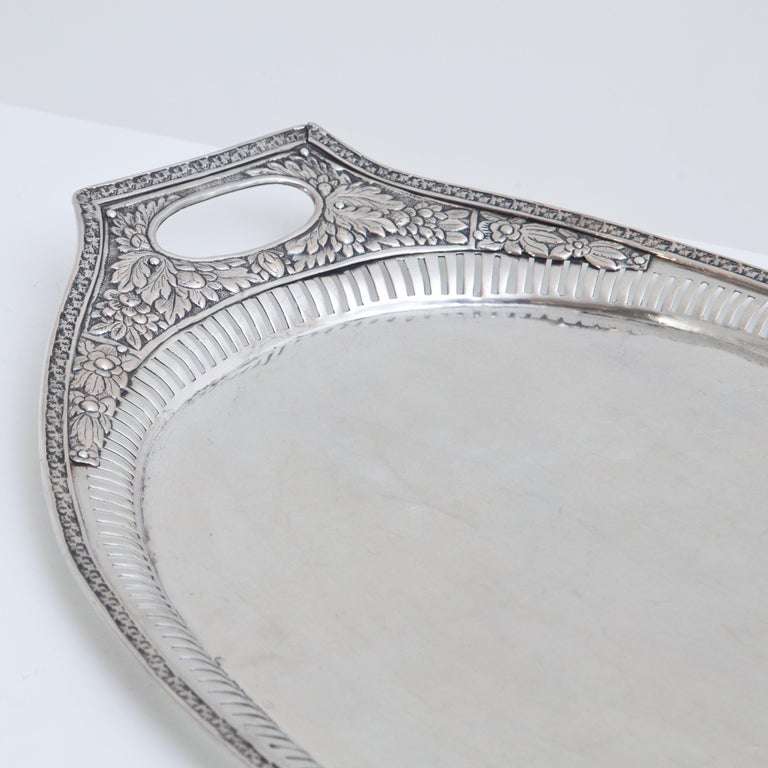 Early 19th Century Neoclassical Silver Tray, Weißenfels, circa 1811-1820 For Sale