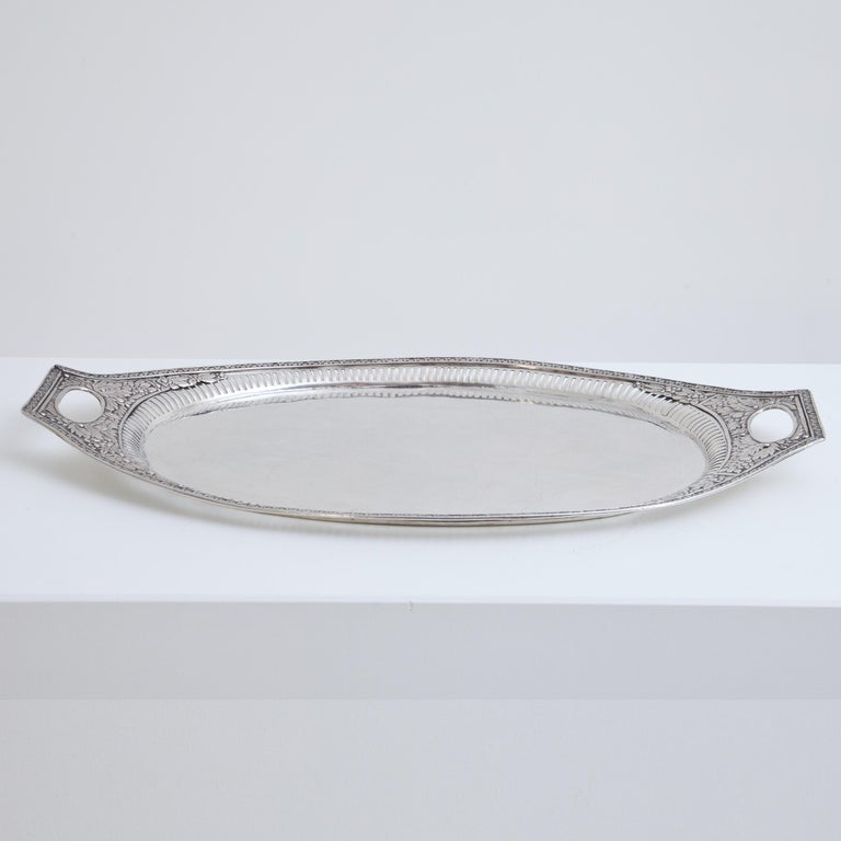 Neoclassical Silver Tray, Weißenfels, circa 1811-1820 For Sale 1
