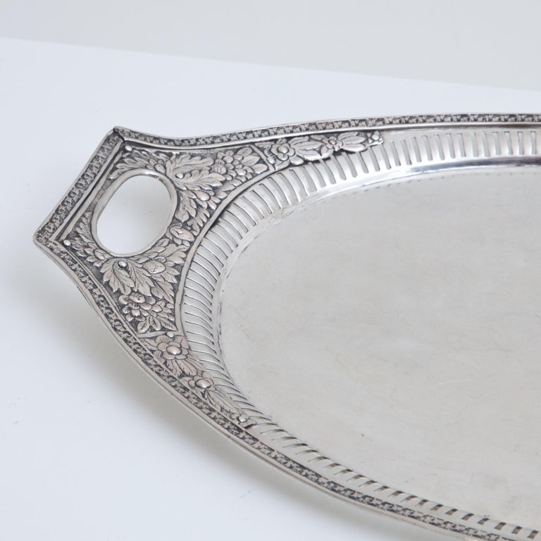 Neoclassical Silver Tray, Weißenfels, circa 1811-1820 For Sale 2