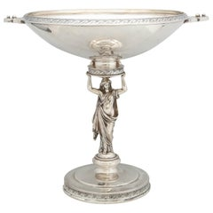 Neoclassical Sterling Silver Centerpiece on Pedestal Base by Gorham Mfg. Co.
