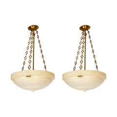 Neoclassical Style Alabaster Ceiling Lights