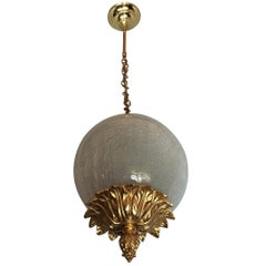 Neoclassical Style Brass Pendant, France, 1950