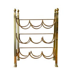 Neoclassical Style Brass Wine Rack