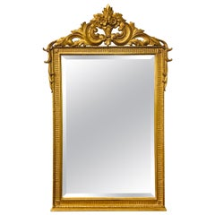 Neoclassical Style Carved Giltwood Wall Mirror in the Manner of La Barge