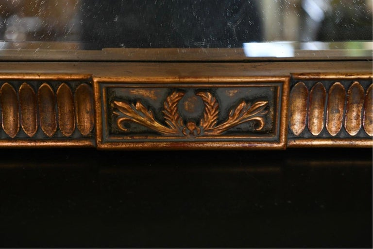 Neoclassical Style Carved Wood Frame over Mantle Mirror For Sale 1