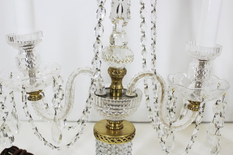 Neoclassical Style Czech Crystal Table Lamps For Sale 10