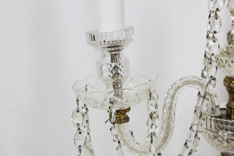 Neoclassical Style Czech Crystal Table Lamps For Sale 1