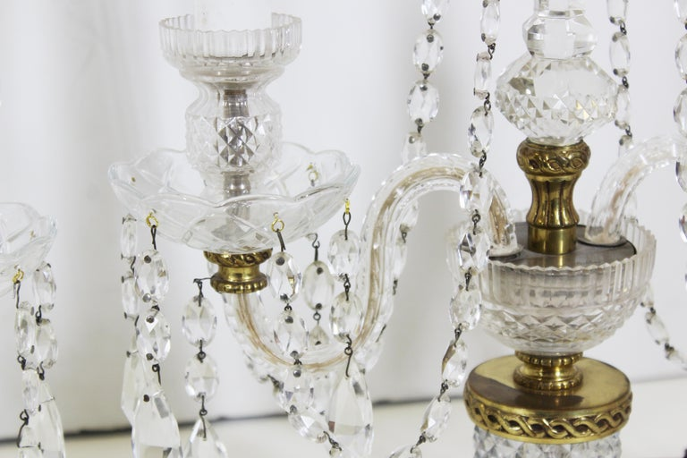 Neoclassical Style Czech Crystal Table Lamps For Sale 3