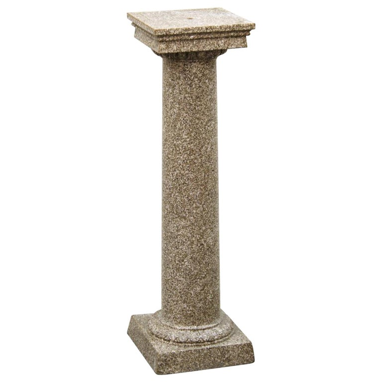 Neoclassical Style Faux-Painted Terracotta Pedestal For Sale