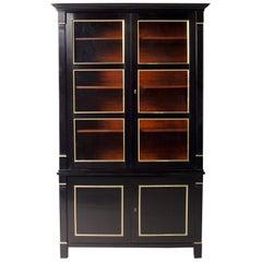 Neoclassical Style French Ebonised Bookcase