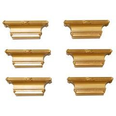Neoclassical Style Gilt Bracket Shelves