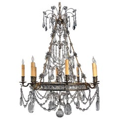 Neoclassical Style Gilt Bronze Baltic Chandelier