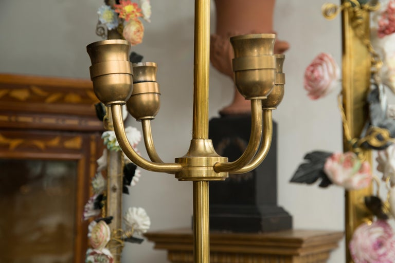 Neoclassical Style Gilt Bronze Chandelier with Porcelain Decoration In Good Condition For Sale In WEST PALM BEACH, FL