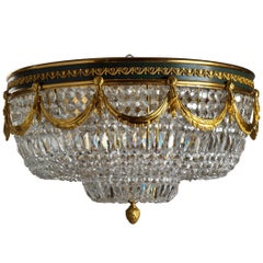 Neoclassical Style Gilt Bronze Flush Mount Fixture