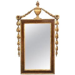 Neoclassical Style Giltwood and Mahogany Ornamental Trumeau or Mantle Mirror