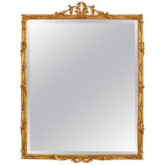 Neoclassical Style Giltwood Wall Mirror by Carver's Guild