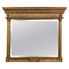 Neoclassical Style Gold Gilt Carved Wood Frame Mirror